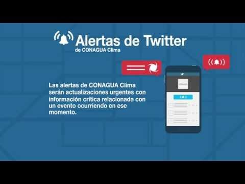 Alertas de Twitter de CONAGUA Clima