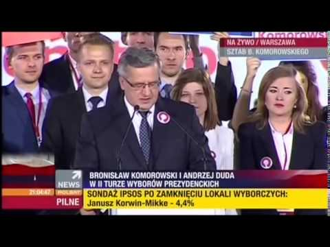 Bronisław Komorowski Przemówienie Po Ogłoszeniu Wyników Wyborów Prezydenckich 2015