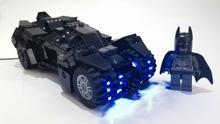 LEGO batman arkham knight batmobile  LED 改Lego BATMOBLE 蝙蝠車Led...バットマン LEGO バットポッド custom moc