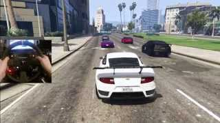 GTA 5 PC GoPro Online Racing - 30 Man Lobby VineWood RaceTrack