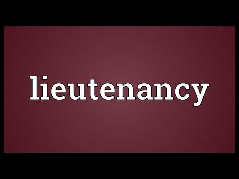 Header of lieutenancy