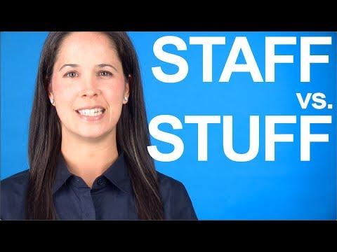 How to Say STAFF vs. STUFF — American English Pronunciation