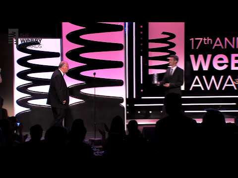 David Karp Presents .GIF Inventor Steve Wilhite with Webby Lifetime Achievement Award