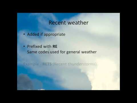 How to read a Meteorological Aerodrome Report (METAR)