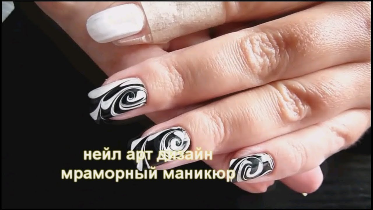 водный дизайн ногтей видео:
