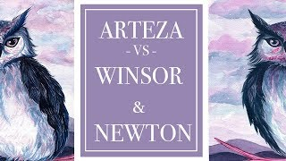 ARTEZA VS WINSOR & NEWTON | 12 Pan Watercolor Palette review