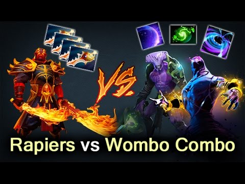 Ember Spirit Rapiers with 50,000 net worth vs Enigma and Void — Dota 2