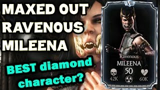 Ravenous Mileena MAXED OUT in MKX Mobile 1.9. All stats and special moves!