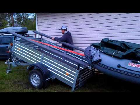 погрузка лодки на прицепе