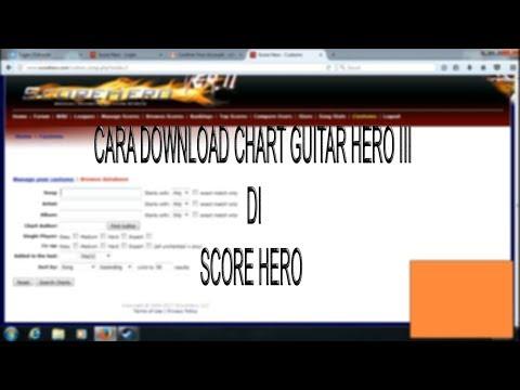 Cara download chart Guitar Hero III di Scorehero