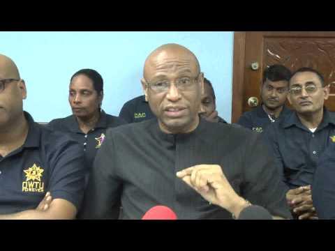 OWTU Reads Riot Act to oil company Petrotrin - Aug. 1, 2014, Trinidad & Tobago