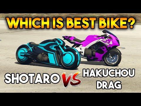GTA 5 ONLINE : SHOTARO VS HAKUCHOU DRAG (WHICH IS BEST BIKE ?)