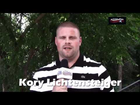 Buy Tickets Now!: http://www.NationalFreedomFest.com Like Us: http://www.facebook.com/NationalFreedomFest The Redskins Kory Lichtensteiger talks about the 78...