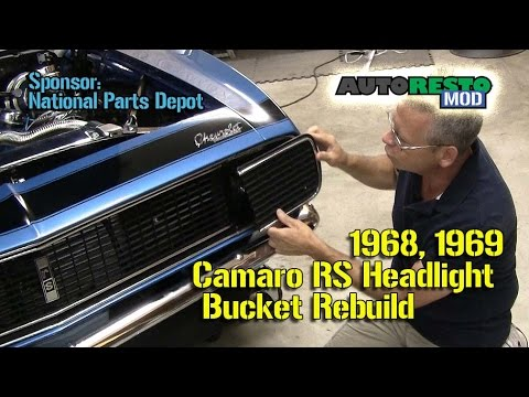 Camaro Rs Rally Sport 1968 1969 Headlight Door Removal And