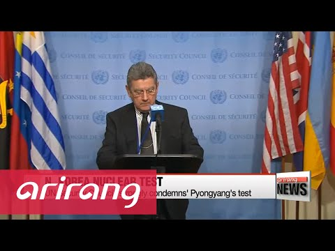 UN Security Council strongly condemns North Korea's nuclear test