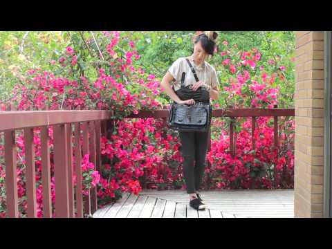 Simple OOTD - featuring baginc 'The Most Coveted Bag for Years Croc Leather Black'