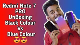 🔥Redmi Note 7 PRO: UNBOXING Blue And Black Color ! BOHUT HARD 🔥🔥🤪