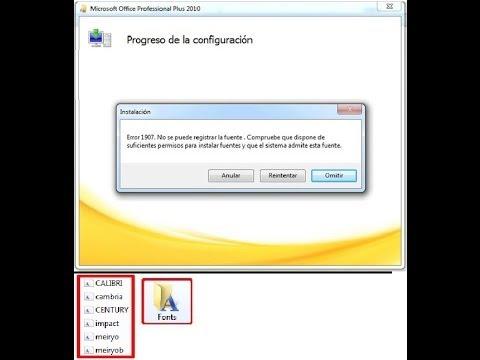 SOLUCIONAR ERROR 1907 DE OFFICE 2007.2010.2013 POR SABID ORDOÑEZ M