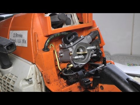 Stihl MS290 carburetor clean & rebuild