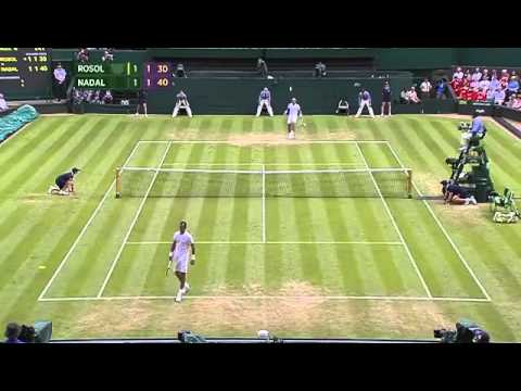 Nadal and Rosol show off their Football skills - Wimbledon 2014