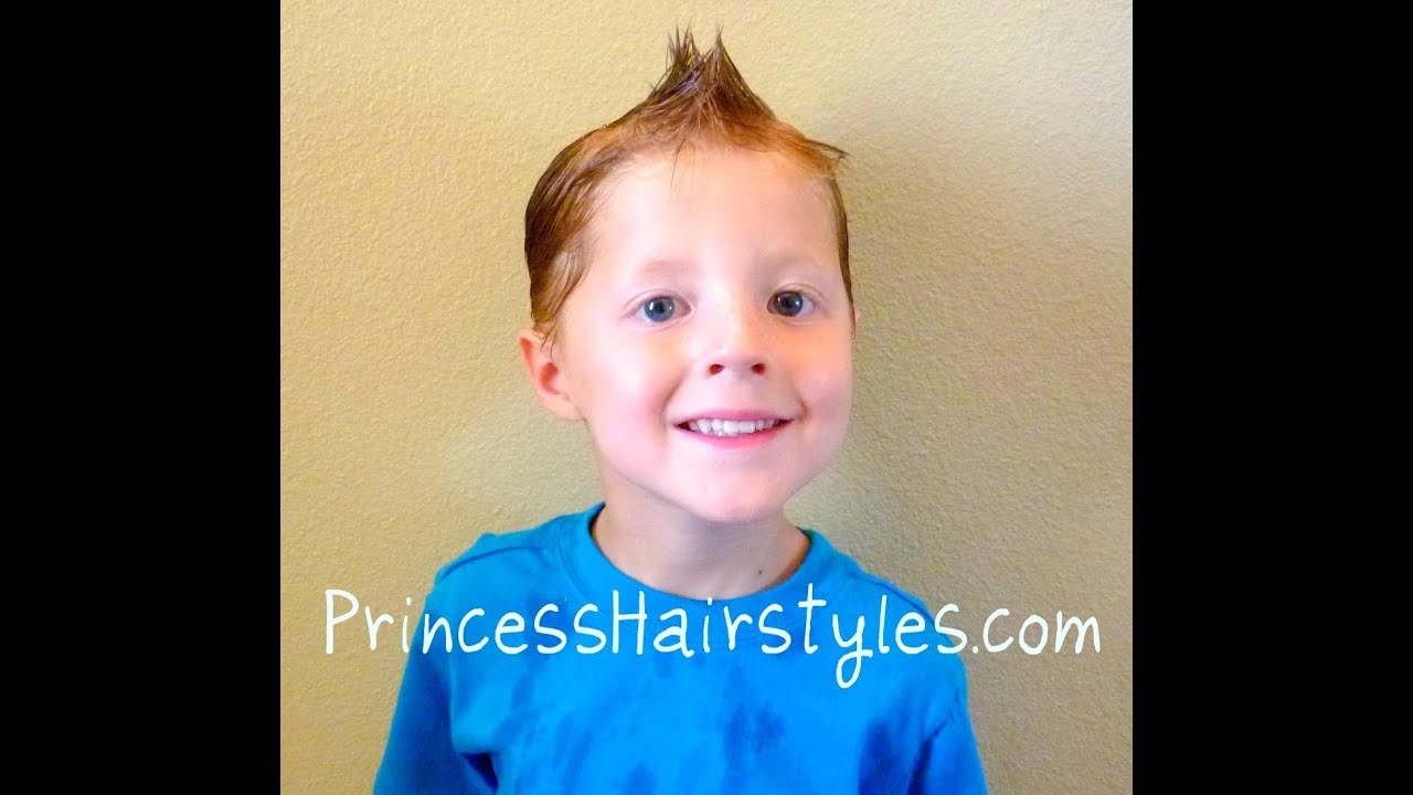 Hairstyles For Boys, Faux Hawk - YouTube