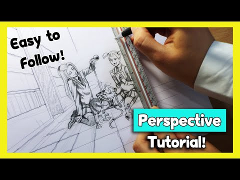 ❤EASY PERSPECTIVE tutorial ❤ How to Draw Backgrounds step by step❤ one point perspective
