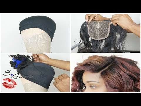 How To Sew In Lace Closure for Beginners Tutorial   Wig Making 101