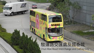 (17/1/2019) Buses in Chun Wan Road Interchange and Cathay City