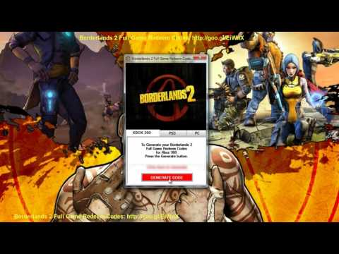 Borderlands 2 Full Game Redeem Codes PS3 Xbox 360 PC