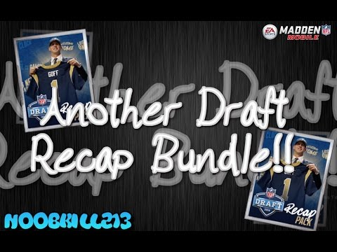 Madden Mobile 16 Another NFL Draft Recap Bundle!!