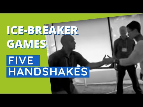 Five Handshakes In Five Minutes fun interactive ice breaker