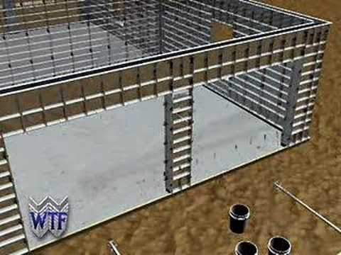 Concrete forms construction of reinforced concrete walls for What contractors are needed to build a house