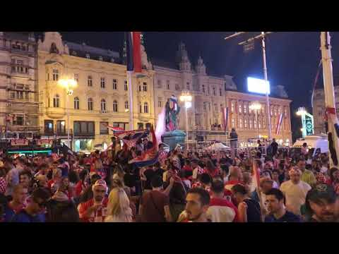 Croatia fans celebrate second place in the World Cup 2018, Zagreb, 15.07.2018., Part 3. thumbnail