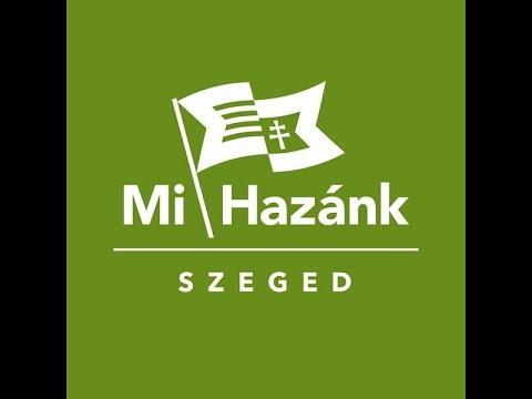 Mi Hazánk Szeged - Gyurcsány meztéllábas tornacipőben - Hungária Kávéház 2019 10 10