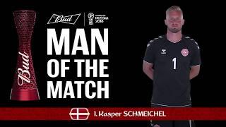 Kasper SCHMEICHEL (Denmark) - Man of the Match - MATCH 52