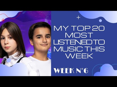 My Top 20 most listened to music this week (WEEK N°6)
