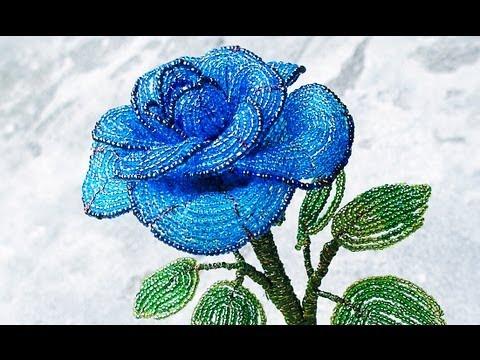 Видеоурок роза из бисера - видео