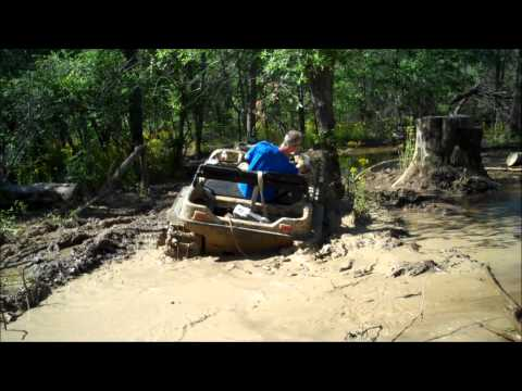 Argo 6x6's with Adair tracks at 2012 Highlifter mud nationals