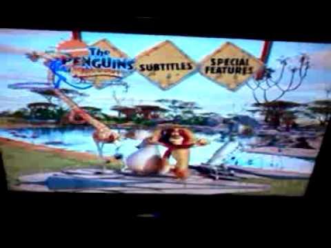 Madagascar 2 Movie Madagascar 2 Disc 2 Menu