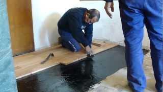 Play forrando escaleras escalera forrada con duela laminada - Como colocar piso flotante paso a paso ...