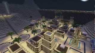TIMELAPSE epic desert city (DOWNLOAD LINK) - minecraft