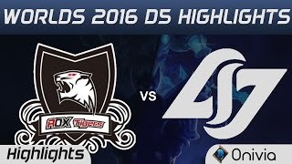ROX vs CLG Highlights Worlds 2016 D5 ROX Tigers vs Counter Logic Gaming