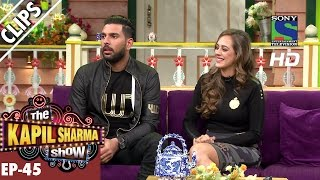 Yuvraj Singh and his fiance Hazel Keech - The Kapil Sharma Show - Ep.45 -24th September 2016
