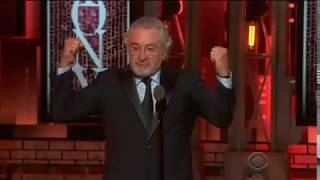 "Robert De Niro - ""F--- Trump"" - 2018 Tony Awards"