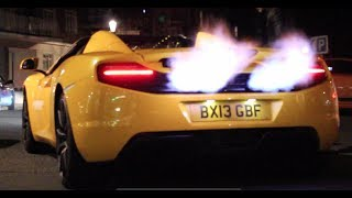 Mclaren 12C EXTREME Flamethrower! INSANE sounds and Loads of Flames!
