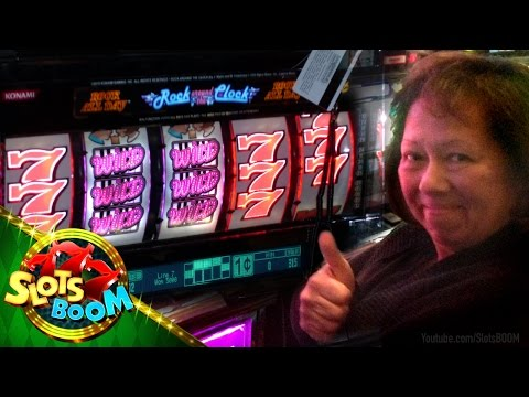 JACKPOT !!! Rock around the Clock - 1c Konami Video Slots -
