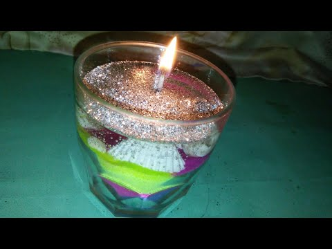 Diy layered gel candle//How to make layered gel candle at home.
