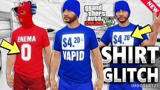 GTA 5 Shirt Color Glitch! Change T-Shirt Color! GTA Online Modded Clothing Glitches (GTA 5 Glitches)