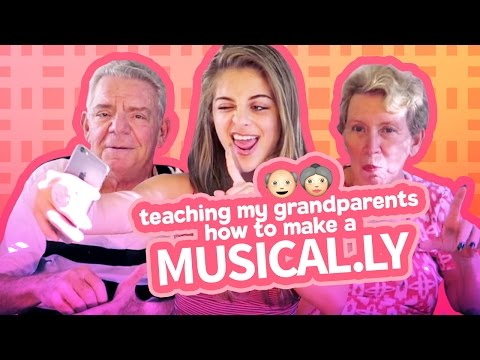TEACHING MY GRANDPARENTS HOW TO MAKE A MUSICAL.LY | Baby Ariel