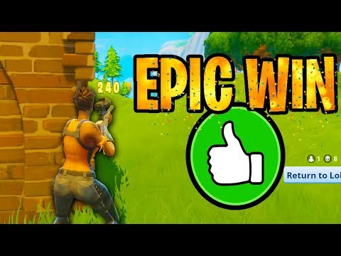 EPIC WIN! - Fortnite Battle Royale Gameplay